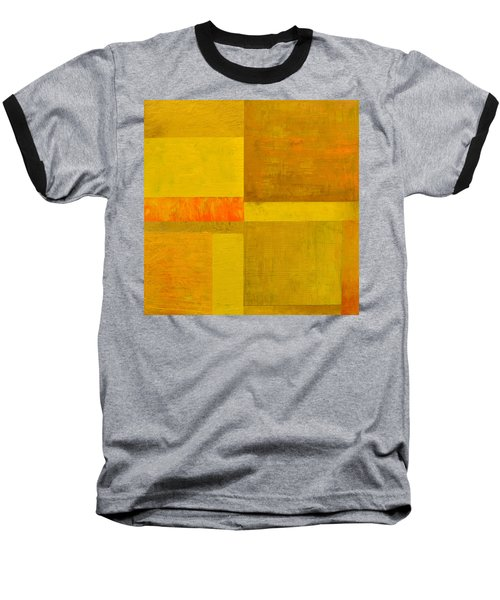 Yellow With Orange Baseball T-Shirt