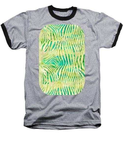 Yellow Zebra Print Baseball T-Shirt