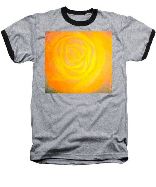 Baseball T-Shirt featuring the mixed media Yelloworange Rose by Kim Henderson