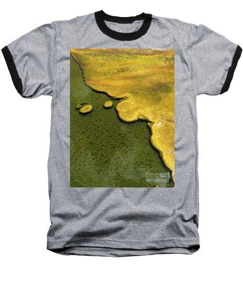 Yellowstone Art. Yellow And Green Baseball T-Shirt by Ausra Huntington nee Paulauskaite