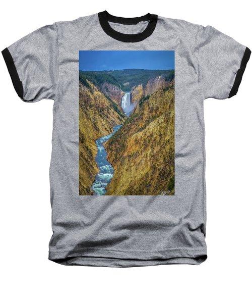 Yellowstone Falls Baseball T-Shirt
