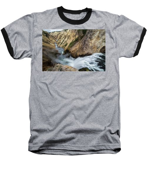 Baseball T-Shirt featuring the photograph Yellowstone Falls by Wesley Aston