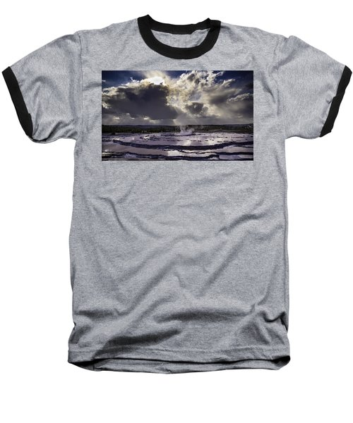 Baseball T-Shirt featuring the photograph Yellowstone Geysers And Hot Springs by Jason Moynihan