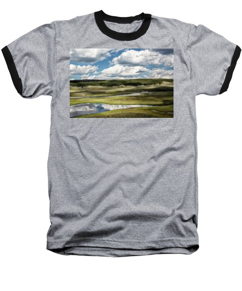 Yellowstone Hayden Valley National Park Wall Decor Baseball T-Shirt
