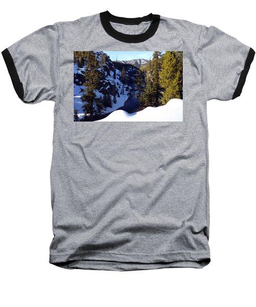 Yellowstone In Winter Baseball T-Shirt by C Sitton