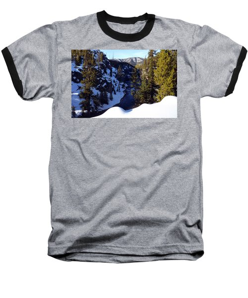 Yellowstone In Winter Baseball T-Shirt