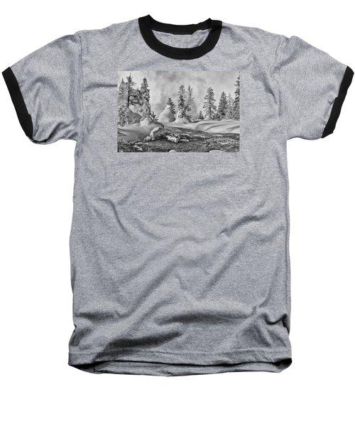 Yellowstone In Winter Baseball T-Shirt