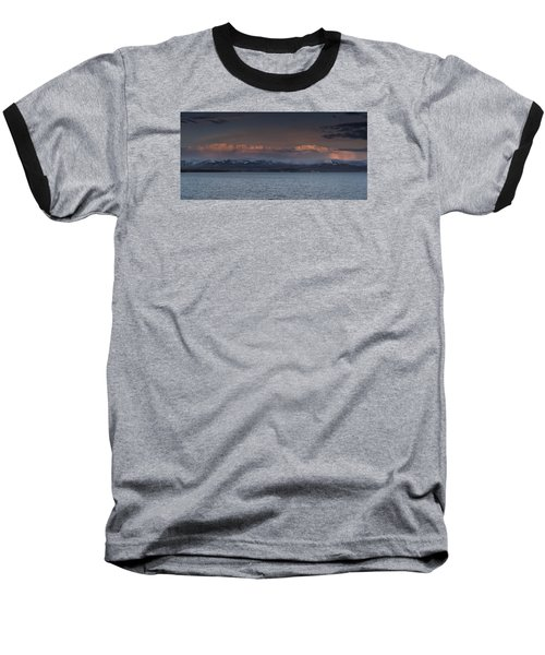 Yellowstone Lake At Sunset Baseball T-Shirt