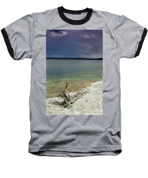 Yellowstone Lake Baseball T-Shirt by Dawn Romine