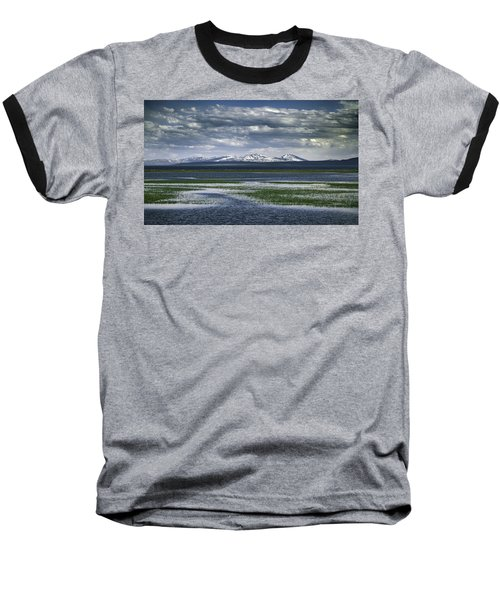 Yellowstone Mountain Scape Baseball T-Shirt