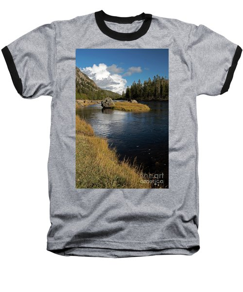 Yellowstone Nat'l Park Madison River Baseball T-Shirt by Cindy Murphy - NightVisions