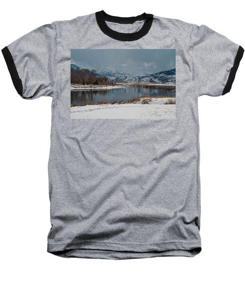 Yellowstone River In Light Snow Baseball T-Shirt