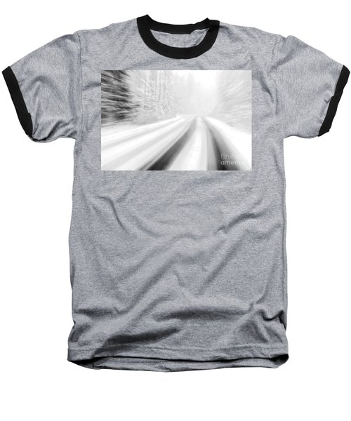 Yellowstone Summer Snow Baseball T-Shirt