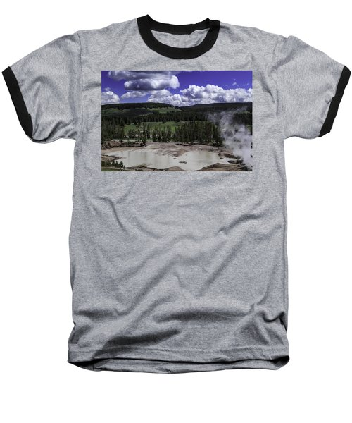Baseball T-Shirt featuring the photograph Yellowstone Tar Pits by Jason Moynihan