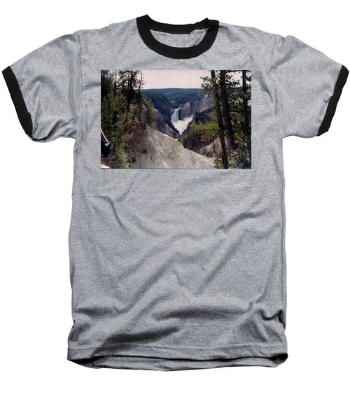 Yellowstone Water Fall Baseball T-Shirt