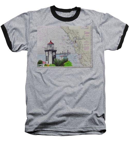Yerba Buena Island Lighthouse Baseball T-Shirt