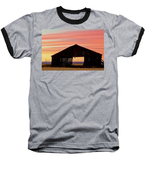 Yesterday And Today At Sunset Baseball T-Shirt