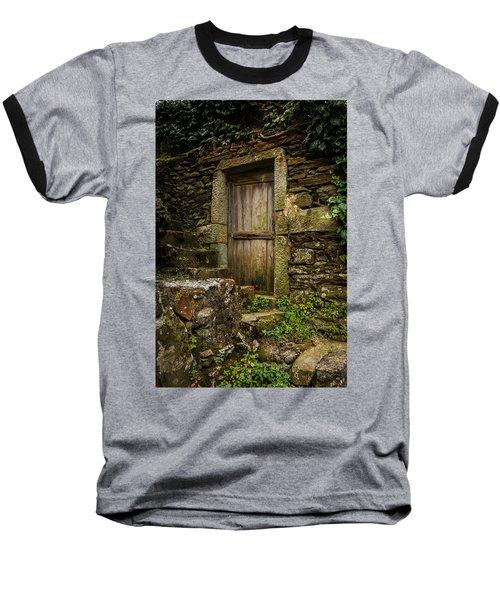 Baseball T-Shirt featuring the photograph Yesterday's Garden Door by Kathleen Scanlan