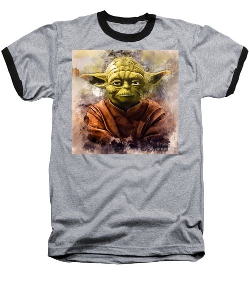 Yoda Art Baseball T-Shirt
