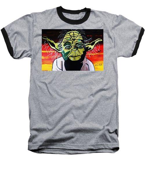 Yoda  Come Home Baseball T-Shirt by Nora Shepley