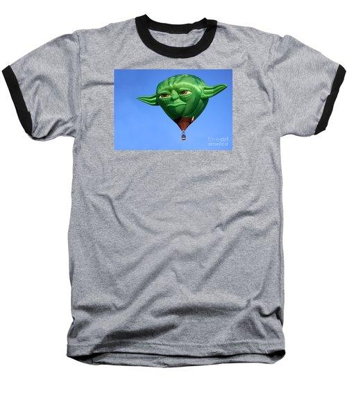 Yoda In The Sky Baseball T-Shirt