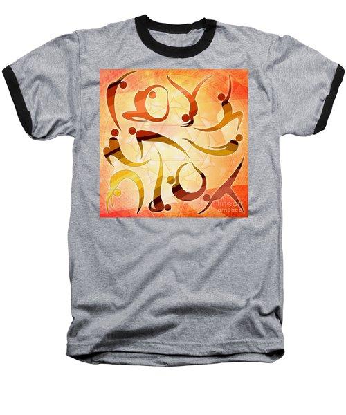 Yoga Asanas Baseball T-Shirt