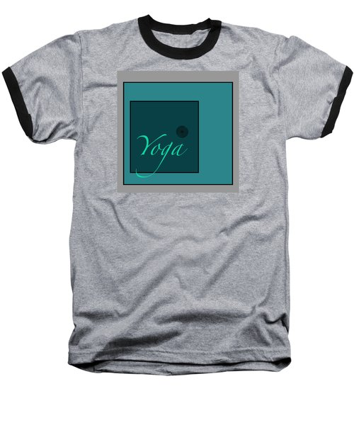 Yoga In Blue Baseball T-Shirt