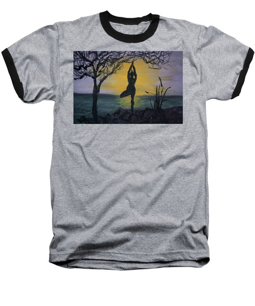 Yoga Tree Pose Baseball T-Shirt
