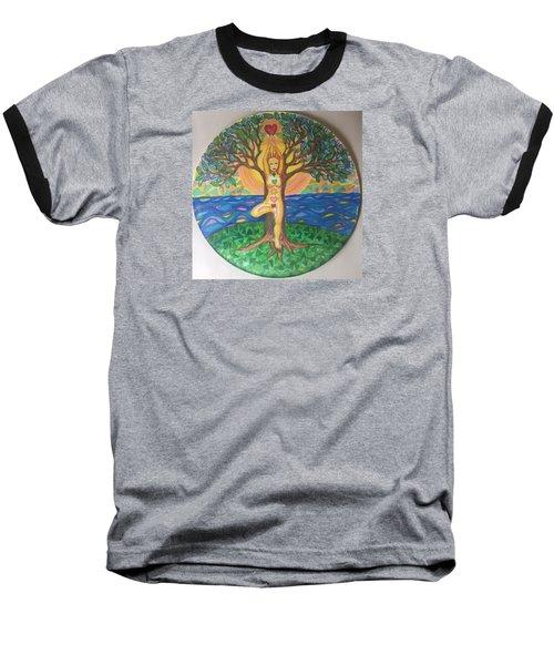 Yoga Tree Pose Baseball T-Shirt