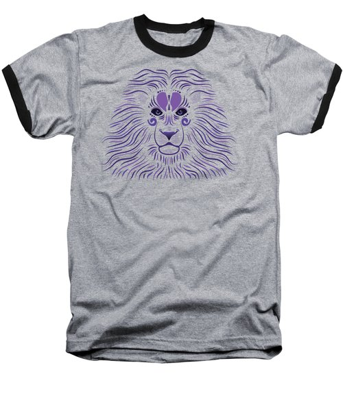 Yoni The Lion - Dark Baseball T-Shirt by Serena King