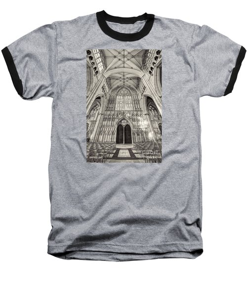 Baseball T-Shirt featuring the photograph York Minster Uk by Jack Torcello