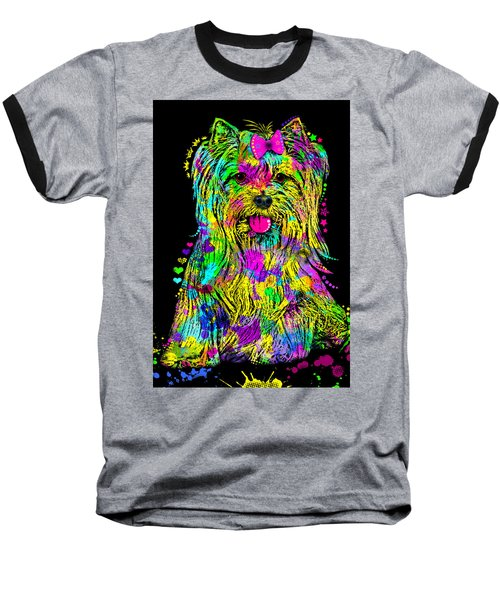 Yorkie Beauty Baseball T-Shirt