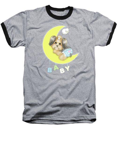 Yorkie Fofa Baby Baseball T-Shirt