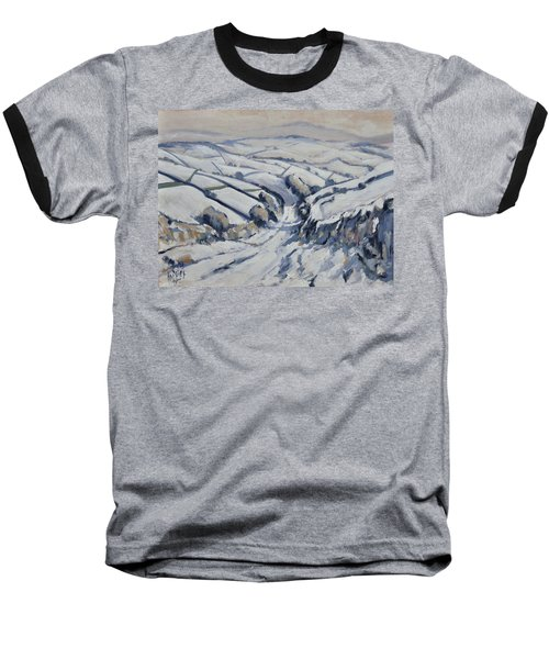 Yorkshire In The Snow Baseball T-Shirt