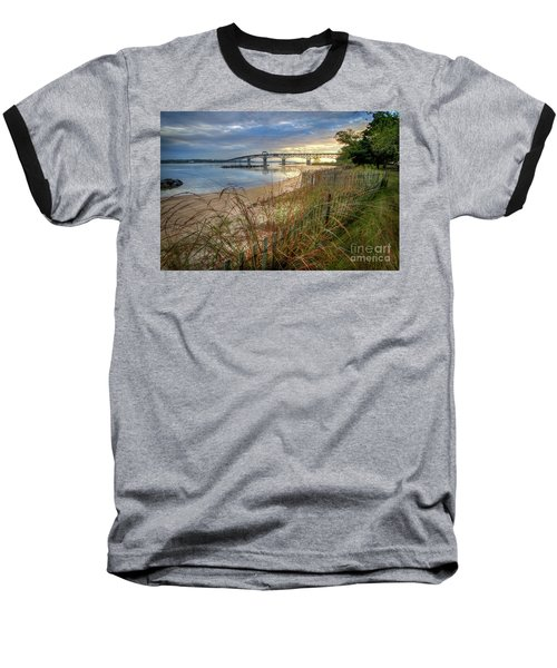 Yorktown Beach Sunrise Virginia Baseball T-Shirt
