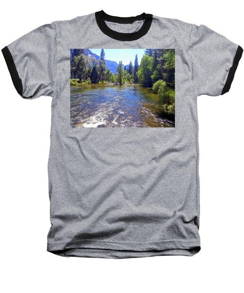 Yosemite River At Ease Baseball T-Shirt