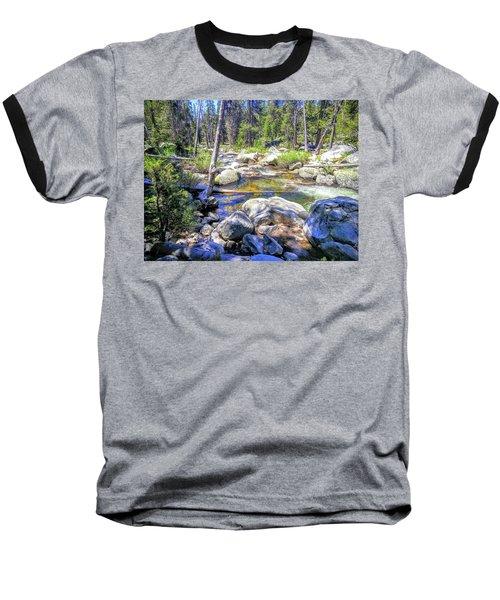 Yosemite Boulder Stream Baseball T-Shirt