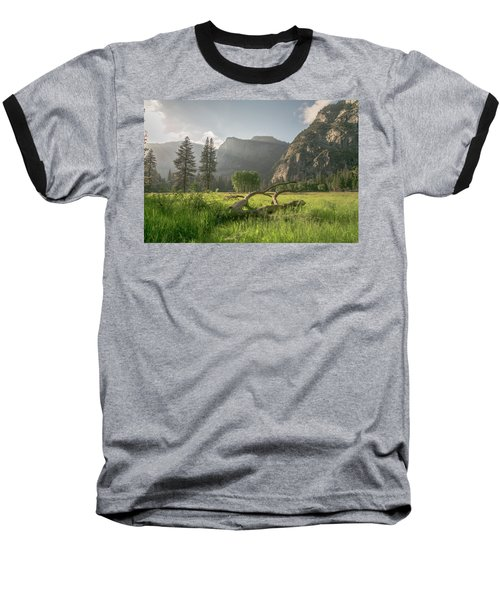 Sundown On The Valley Baseball T-Shirt by Ryan Weddle