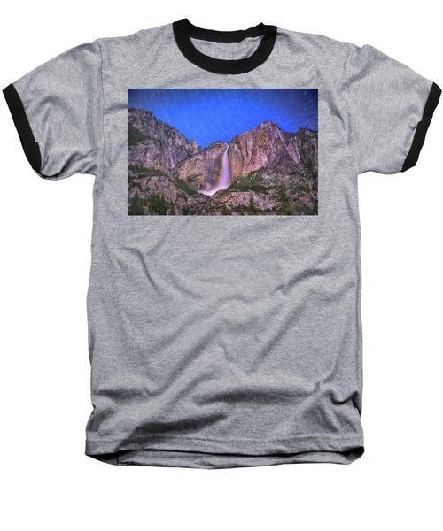 Yosemite At Night Baseball T-Shirt