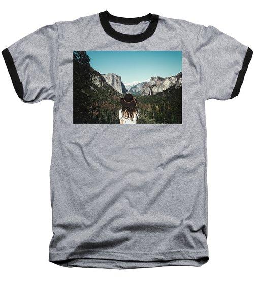 Yosemite Awe Baseball T-Shirt