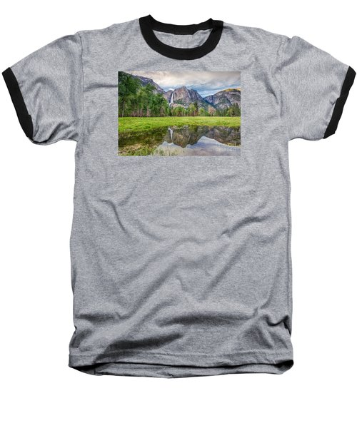 Yosemite Falls And Reflections 2 Baseball T-Shirt