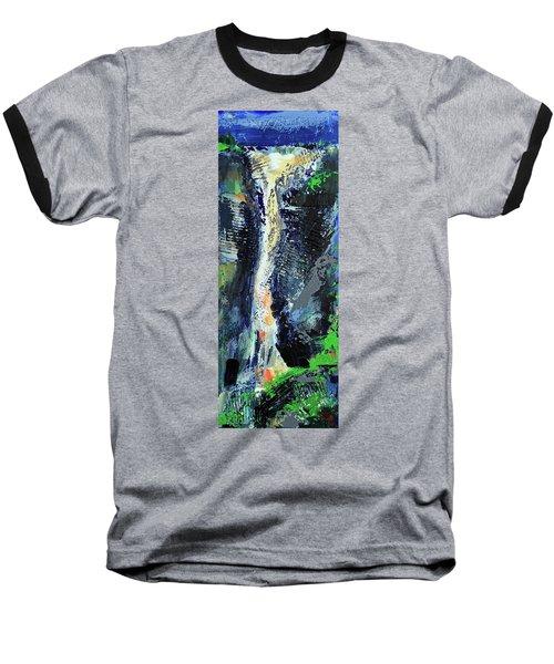 Baseball T-Shirt featuring the painting Yosemite Falls by Walter Fahmy