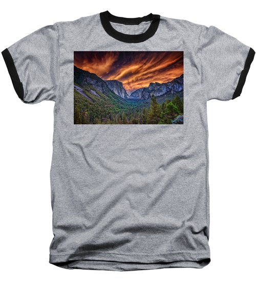 Yosemite Fire Baseball T-Shirt