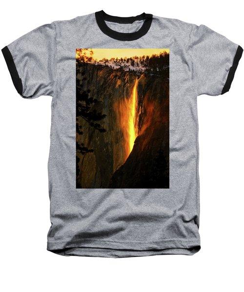 Yosemite Firefall Baseball T-Shirt