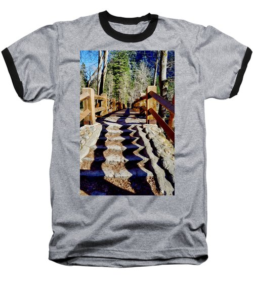Yosemite Footbridge  Baseball T-Shirt