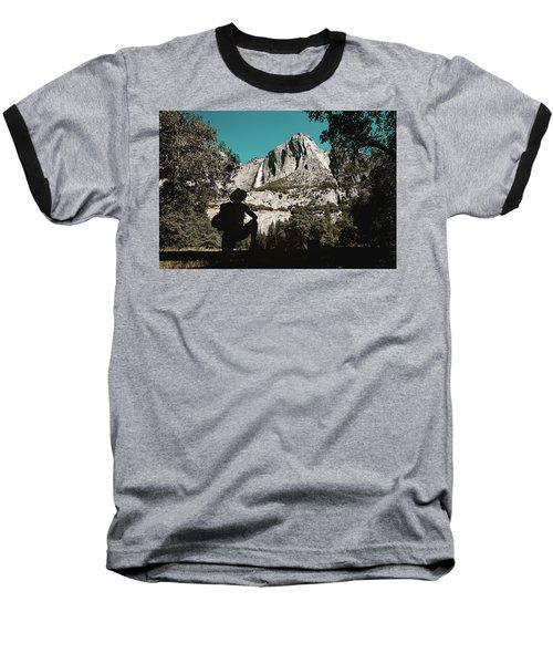Yosemite Hiker Baseball T-Shirt