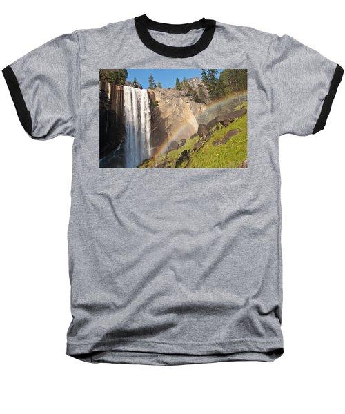 Yosemite Mist Trail Rainbow Baseball T-Shirt