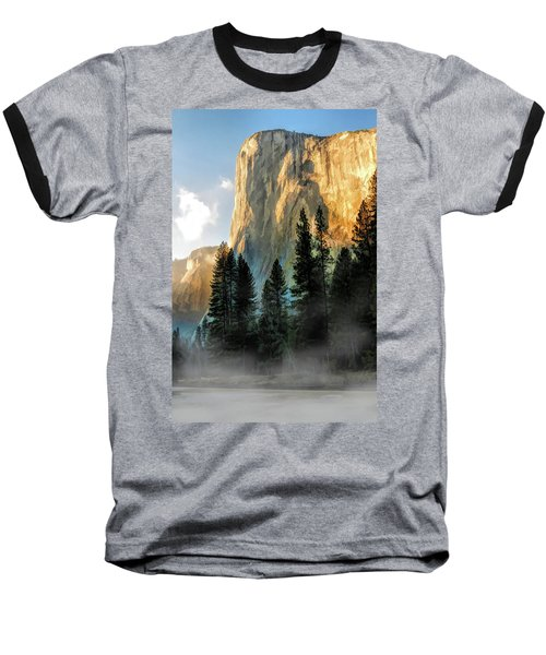 Baseball T-Shirt featuring the painting Yosemite National Park El Capitan by Christopher Arndt