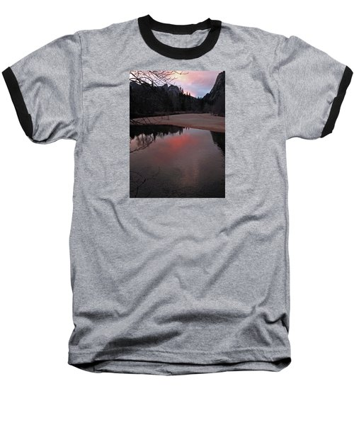 Baseball T-Shirt featuring the photograph Yosemite Reflections 01 2015 by Walter Fahmy
