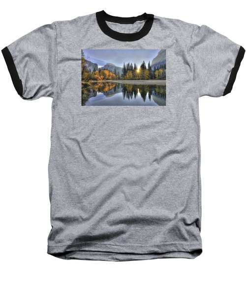 Yosemite Reflections Baseball T-Shirt